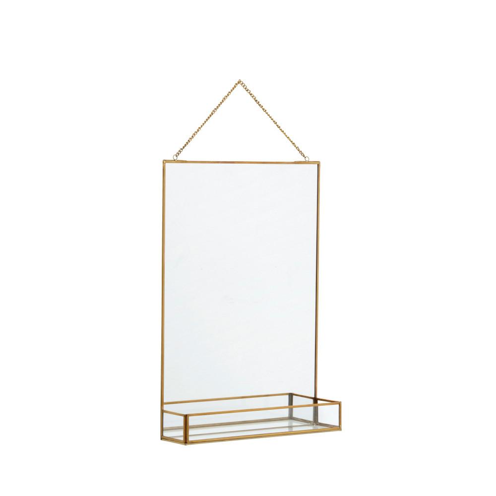 Miroir En Métal Avec étagère Nordal Raerh