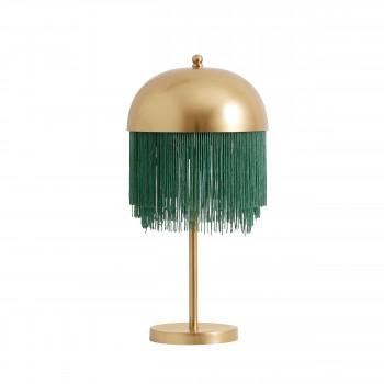 Lampe à poser en métal et franges Kallerup