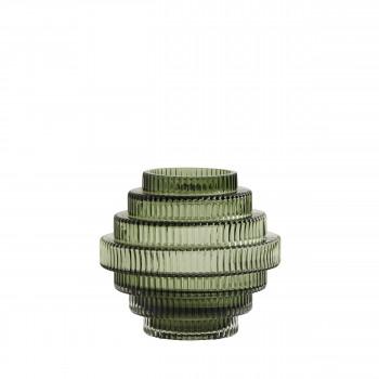 Vase design en verre S Rill