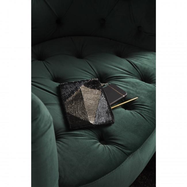 Fauteuil rétro en velours capitonné Lounge