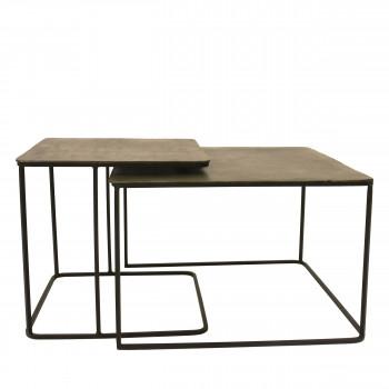 2 tables basses en métal Hengelo