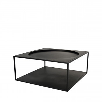 Table basse carrée en acier Elsloo