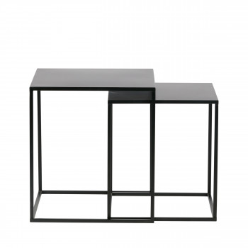 Lot de 2 tables basses en métal Ziva