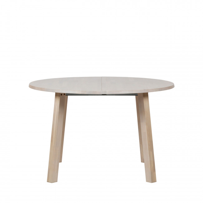 Table à manger extensible 120-200x120 cm en bois Lange Jan
