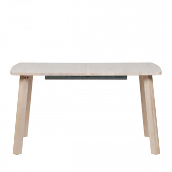 Table à manger extensible 140-220x85 cm en bois Lange Jan