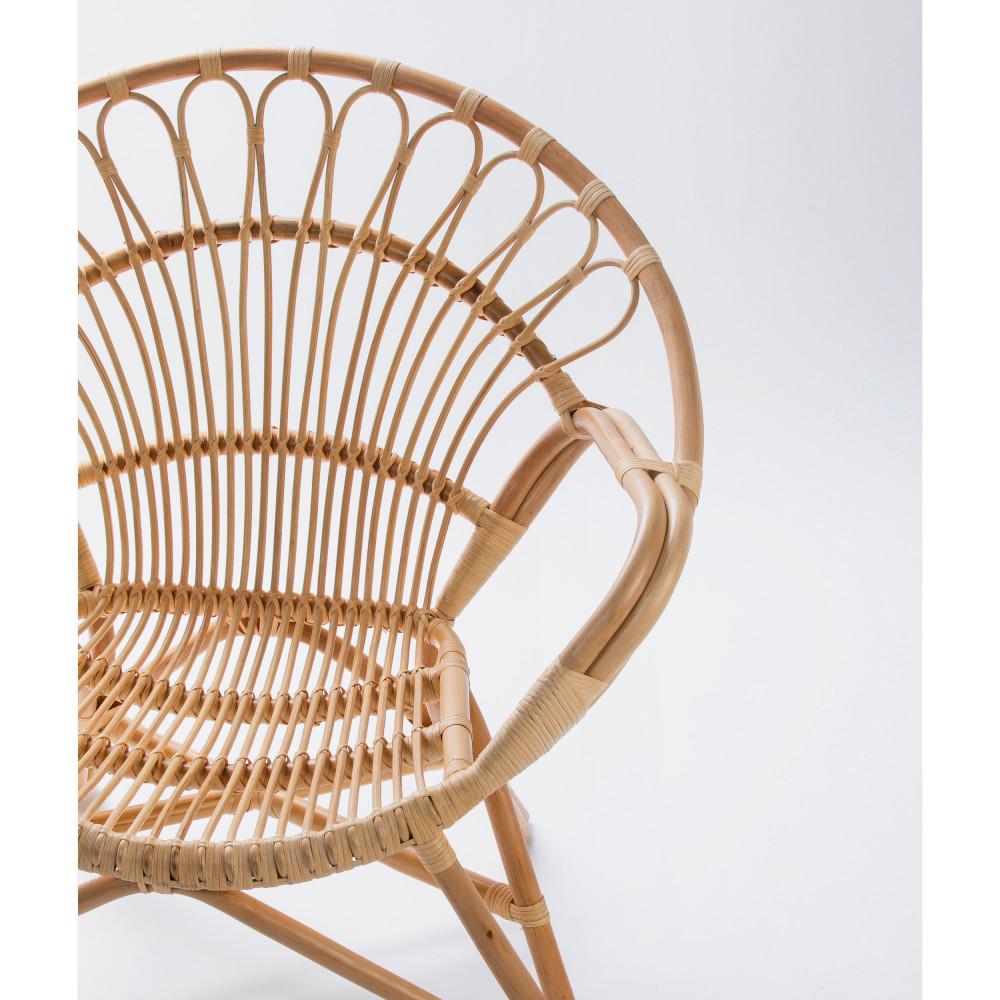 Cache Pied De Sapin Rotin fauteuil vintage en rotin drawer - milo