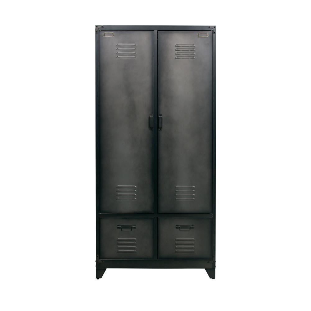 armoire en m tal noir locker drawer. Black Bedroom Furniture Sets. Home Design Ideas