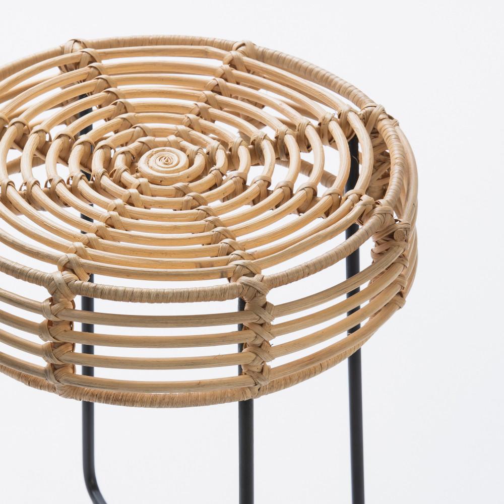 Cache Pied De Sapin Rotin tabouret design en rotin drawer - badung