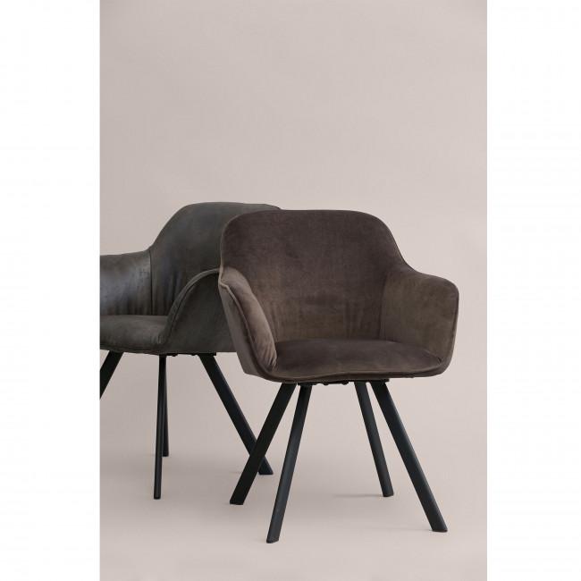 Lot de 2 chaises en velours Viggo