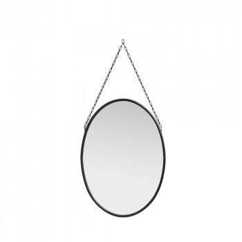 Miroir ovale en métal Downtown