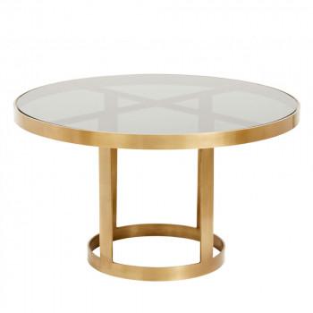 Table basse en verre et métal Soholm