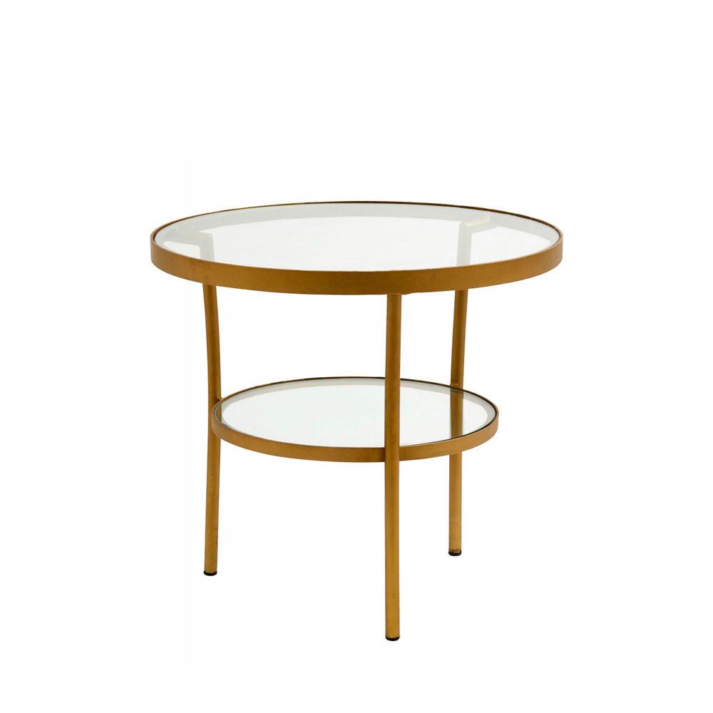 table basse ronde en verre et m tal niva drawer. Black Bedroom Furniture Sets. Home Design Ideas
