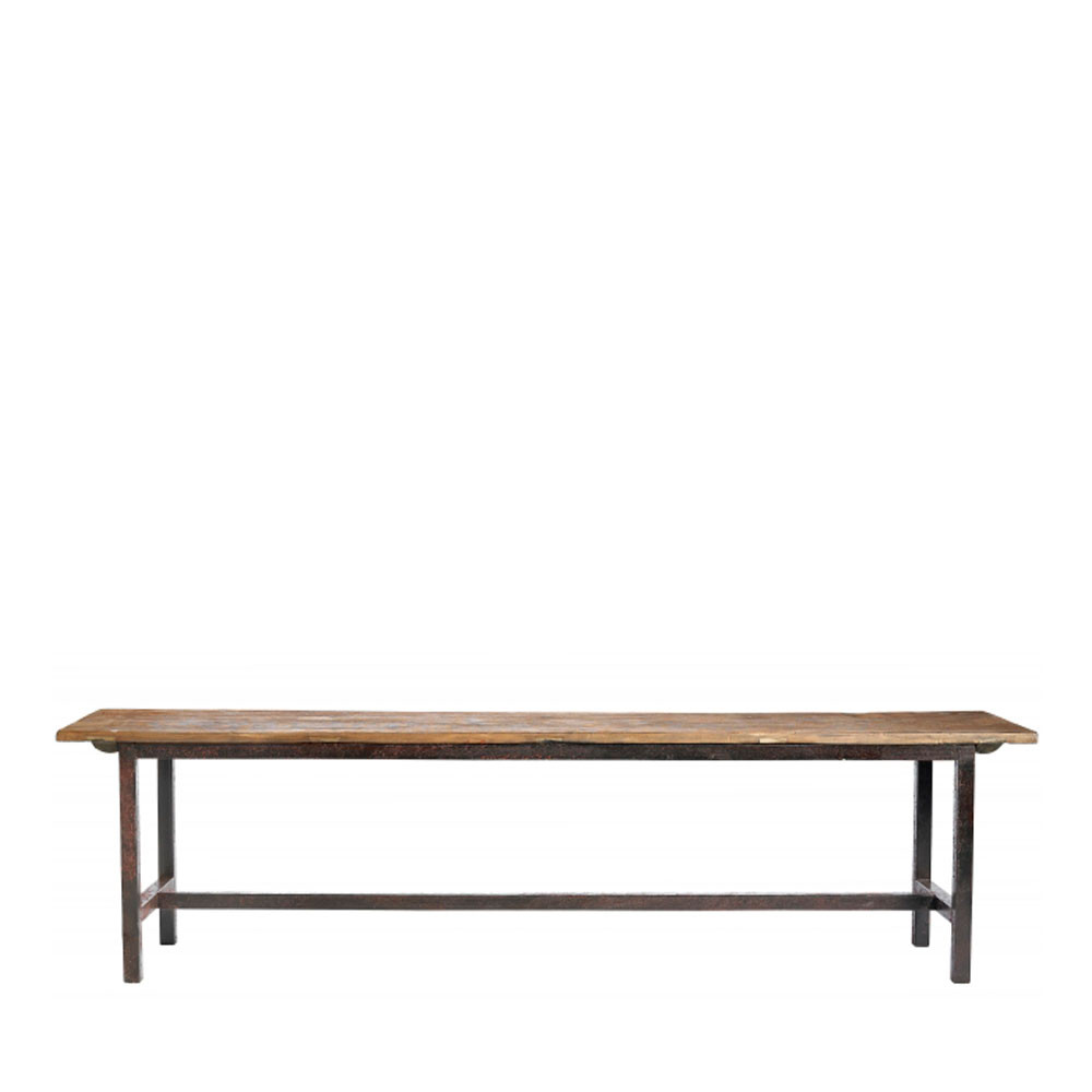 banc en bois et m tal s raw drawer. Black Bedroom Furniture Sets. Home Design Ideas