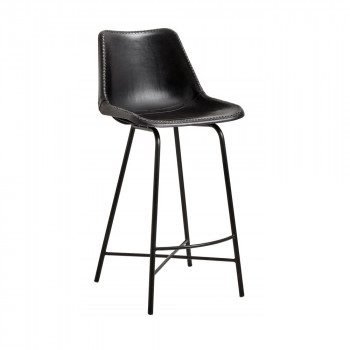 Tabouret de bar cuir Hollose