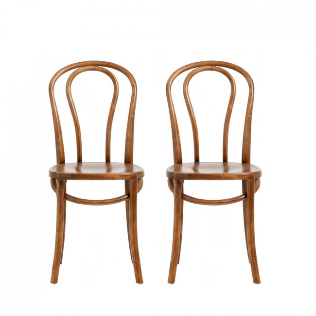 Lot de 2 chaises en bois Bistro