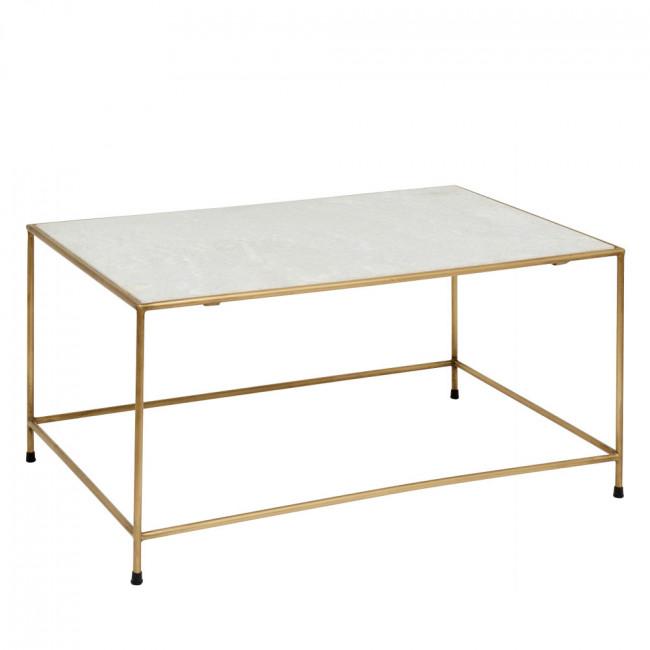 Table basse en marbre et métal Timeless