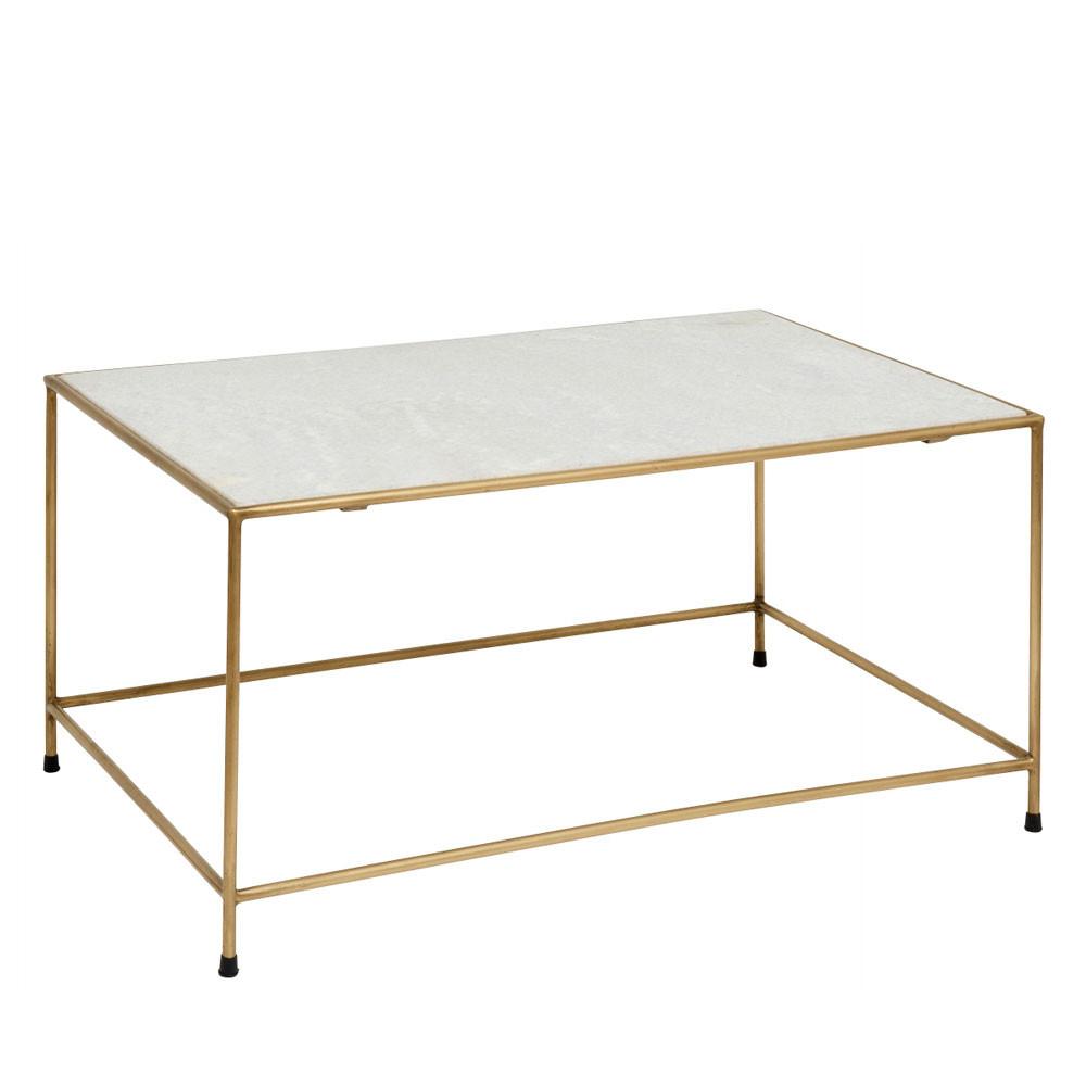 Table Basse En Marbre Et Métal Timeless Drawer