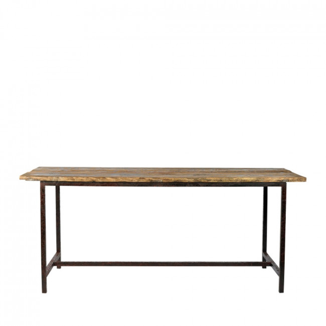 Table en bois et métal Raw