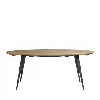 Table à manger en bois et métal Skarre