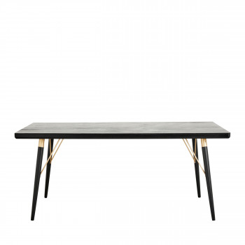 Table à manger rectangle en bois Gudso