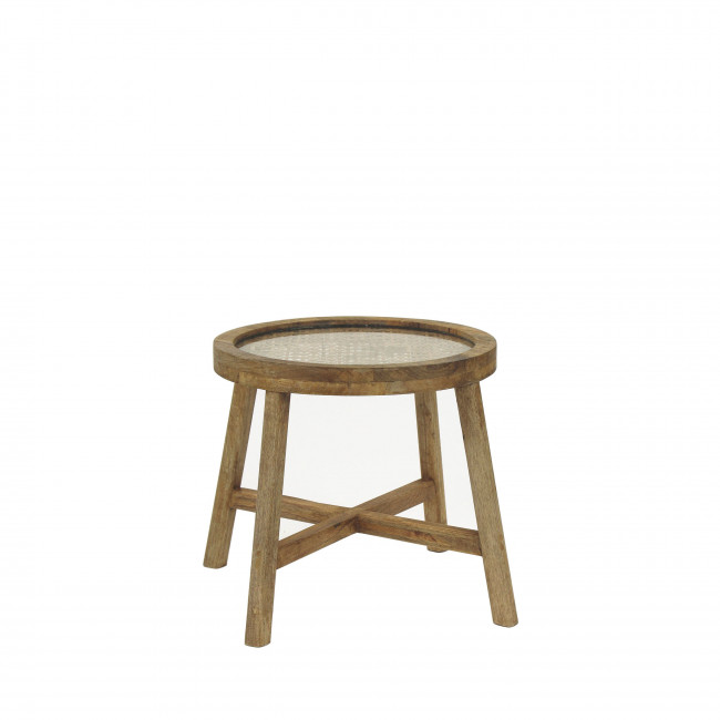 Table basse en bois ø40 cm Sarastro