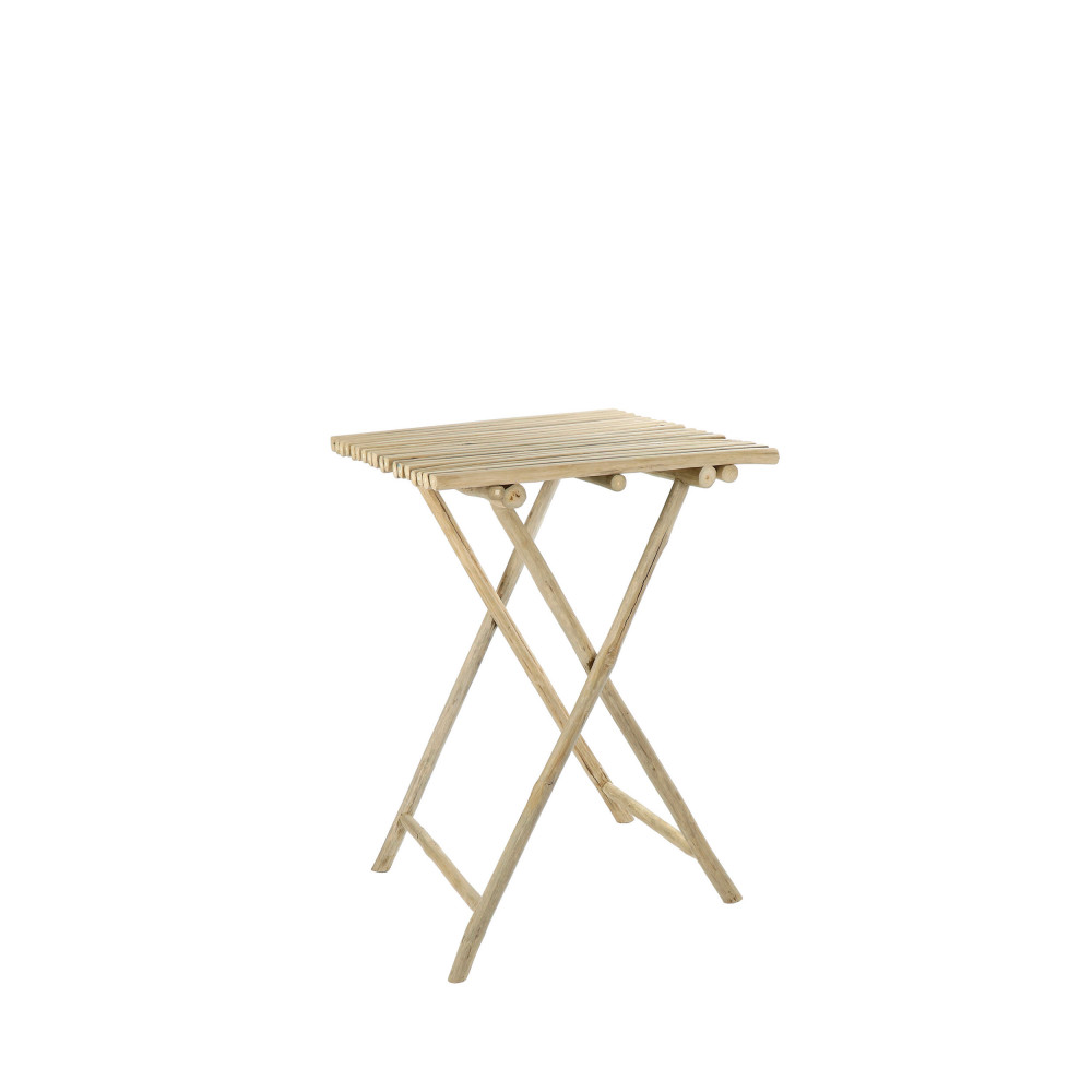 Table haute de jardin en teck Havana - Drawer