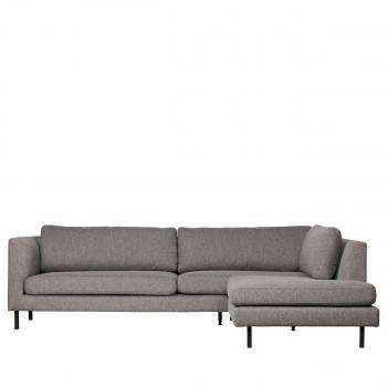 Canapé d'angle droit en tissu Nolan