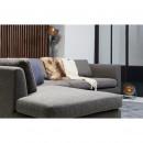 Canapé d'angle gauche en tissu Nolan