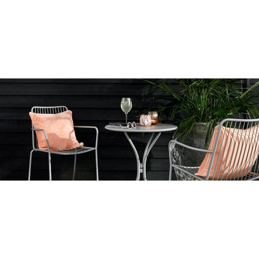 Table de jardin ronde en acier Helberskov - Drawer