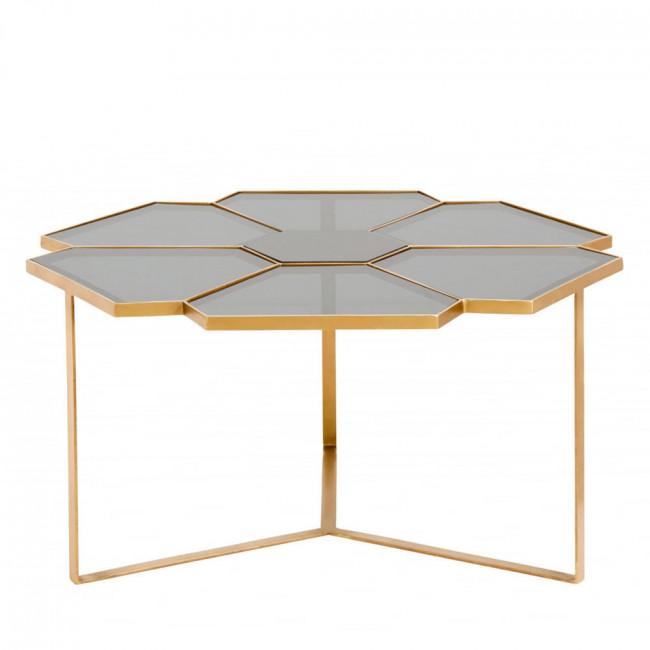 Table basse en verre et métal L Tikob