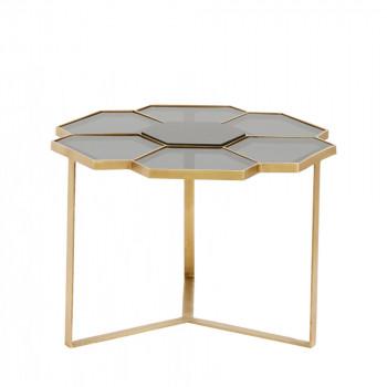 Table basse en verre et métal S Tikob