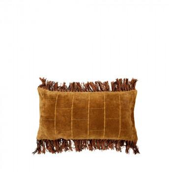 Coussin à franges en velours Dornei 40x60 cm