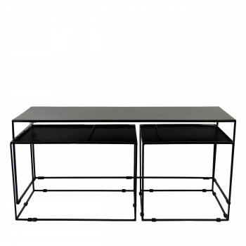 Lot de 3 tables basses en métal Trievo