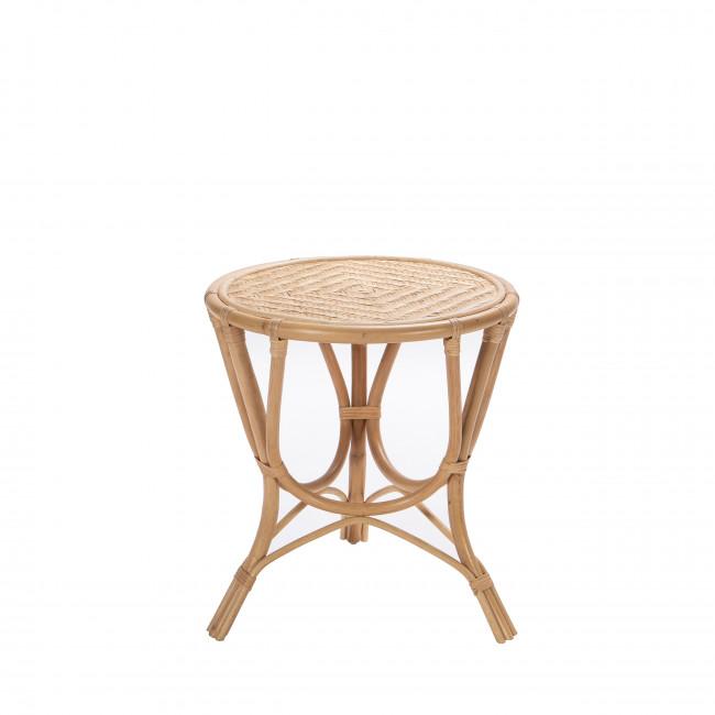 Table d'appoint vintage en rotin Omega