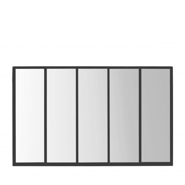 Loos - Miroir verrière en métal 140x90 cm