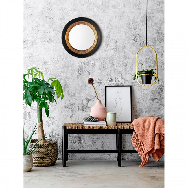 Houry - Miroir rond en bois ø51 cm