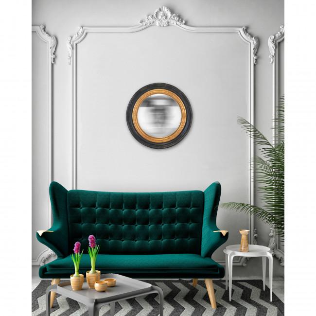 Houry - Miroir rond en bois ø64 cm