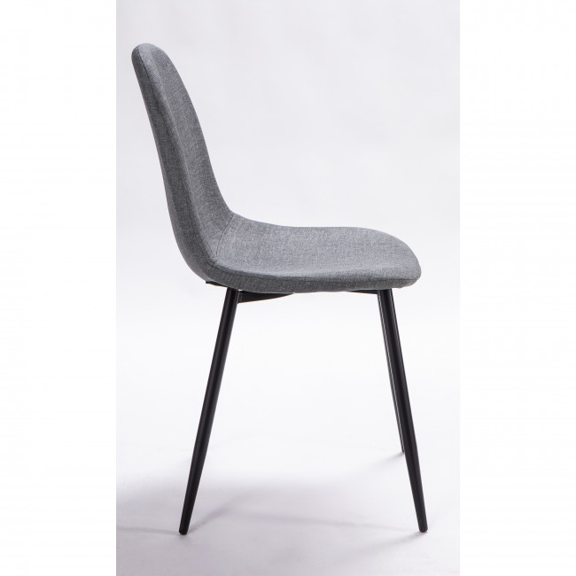 Lot de 2 chaises design en tissu pieds noirs Vitikko