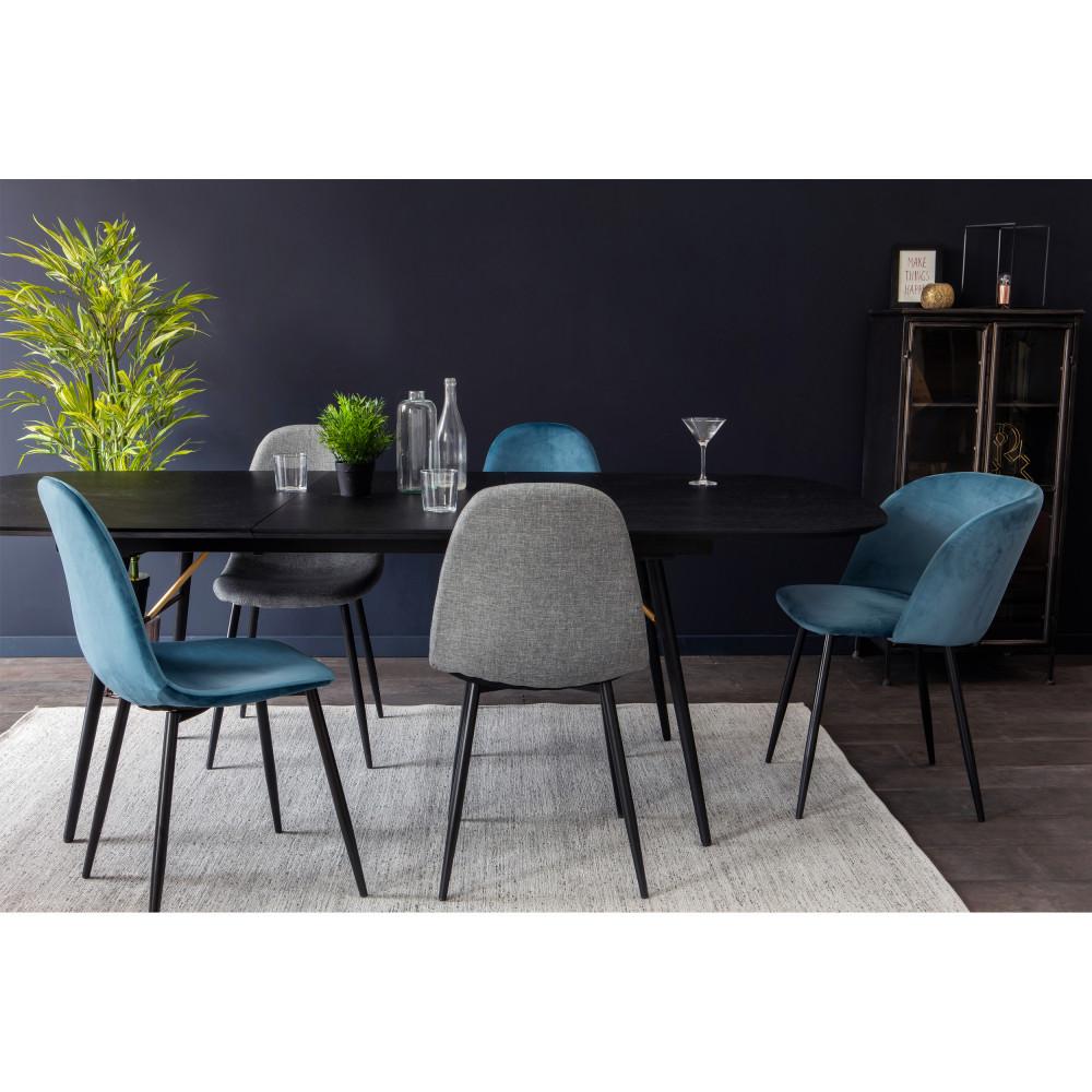 2 chaises en velours et pieds noirs Drawer - VITIKKO