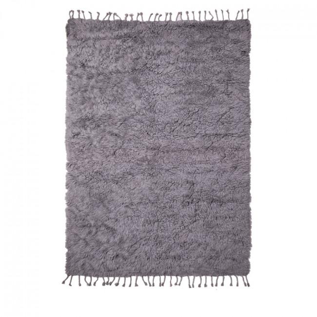 Tapis shaggy en laine Nanda Devi