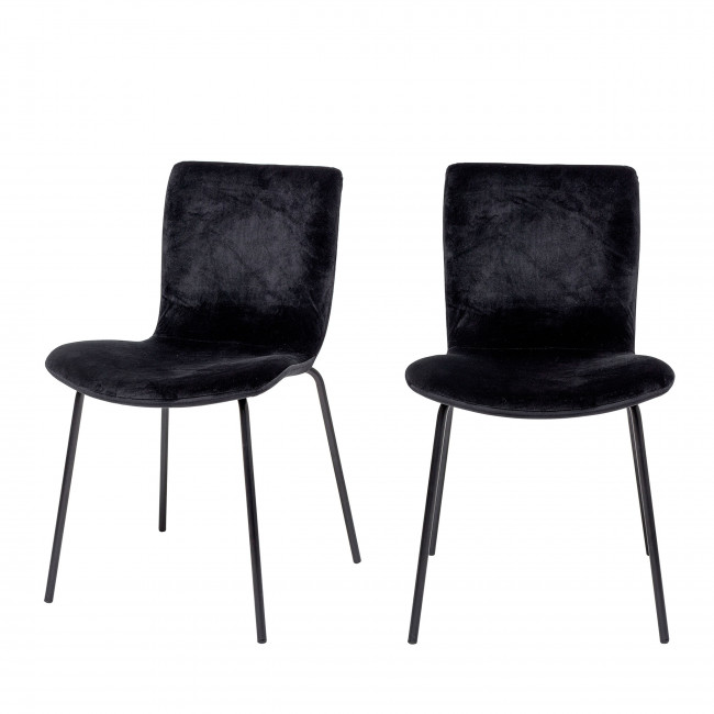 Bloom - 2 chaises pieds noirs