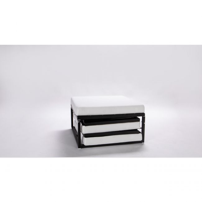 Jazz - Pouf convertible lit tissu