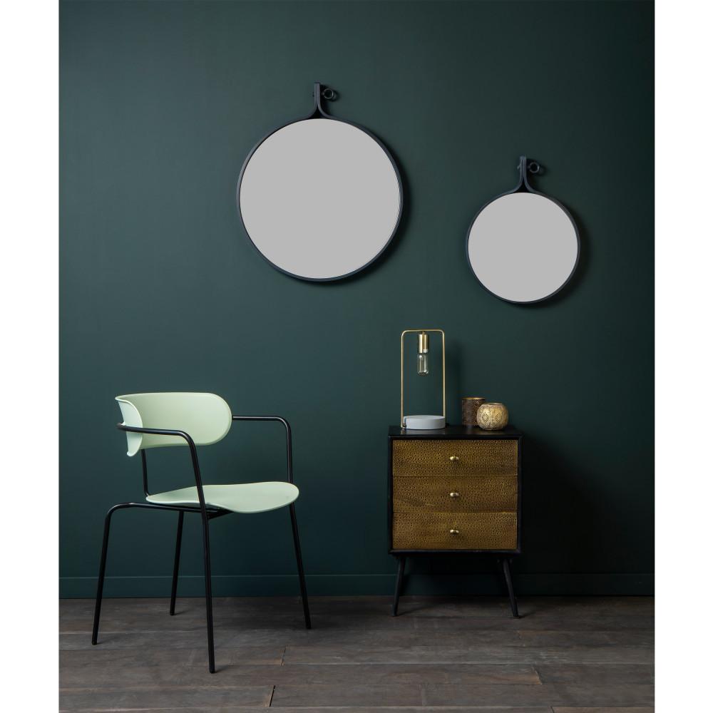 miroir m tal industriel m tal attractif 16 39. Black Bedroom Furniture Sets. Home Design Ideas