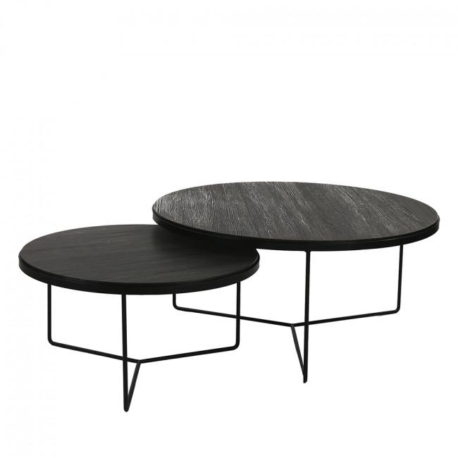 Lot de 2 tables basses en métal Miso
