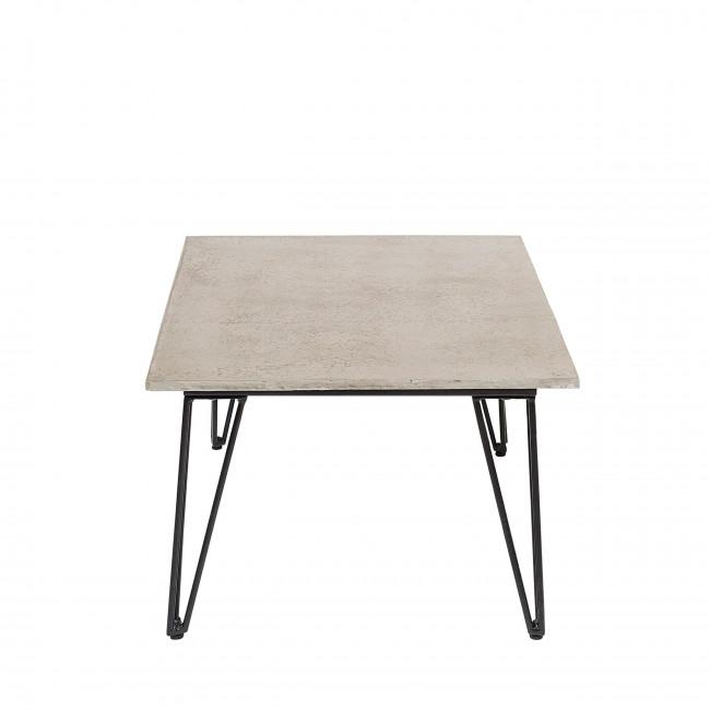 Mundo - Table basse en métal et béton