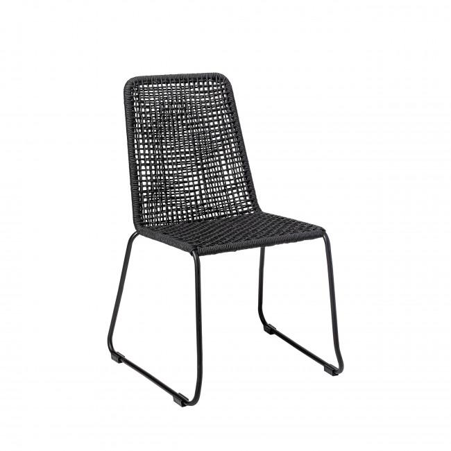 Mundo - Chaise de jardin en métal et résine