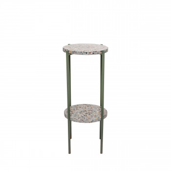 Earth - Table d'appoint en terrazzo