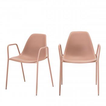 Dew - 2 chaises design en plastique