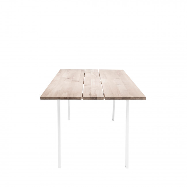 Cozy - Table à manger en métal et chêne 200x95cm