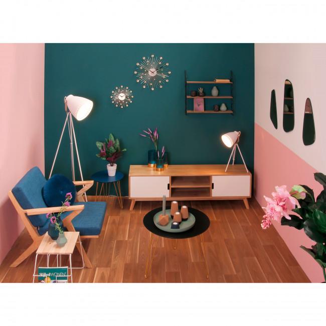 Wired - Table d'appoint en bois et métal